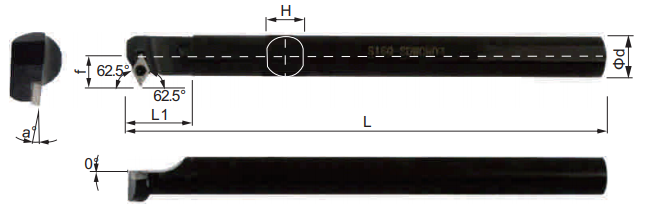 SDWCR-Bohrstange-Abmessungen