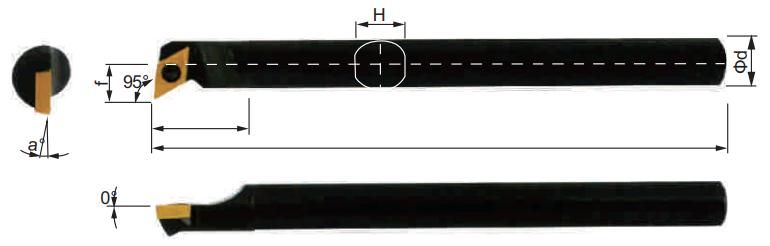 SDUCR-Bohrstange-Abmessungen