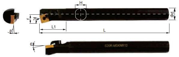 MSKNR-Bohrstange-Abmessungen