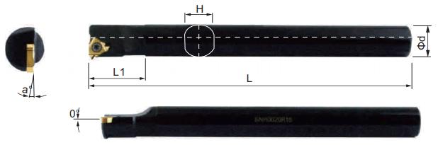 SNR-Bohrstange-Abmessungen