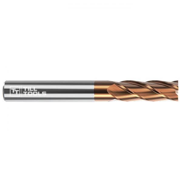 Vollhartmetall Schaftfräser TiSiN-beschichtet mit 4 Schneiden