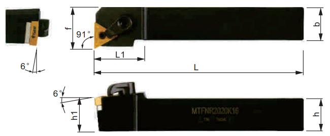 MTFNR-Klemmhalter-Abmessungen