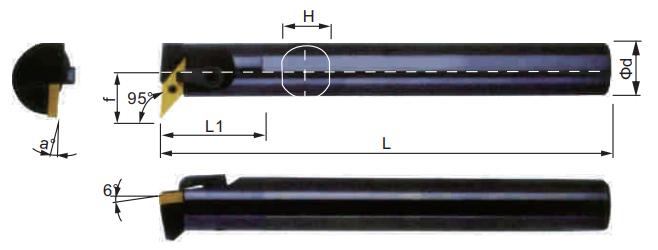 MVUNR-Bohrstange-Abmessungen
