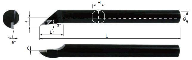 SVJCR-Bohrstange-Abmessungen