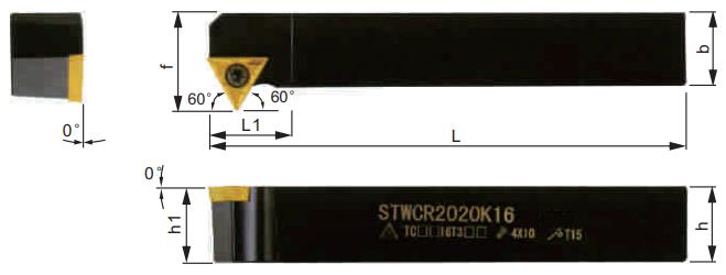 STWCR-Klemmhalter-Abmessungen