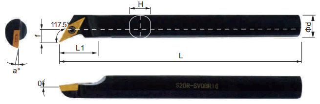 SVQBR-Bohrstange-Abmessungen