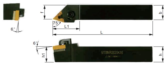 MTBNR-Klemmhalter-Abmessungen