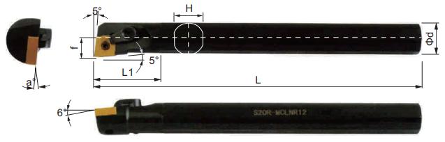 MCLNR-Bohrstange-Abmessungen