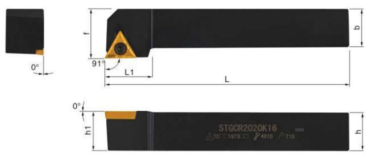 STGCR-Klemmhalter-Abmessungen