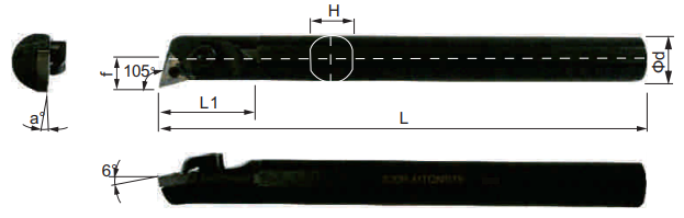 MTQNR-Bohrstange-Abmessungen