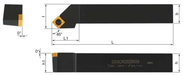 SSSCR-Klemmhalter-Abmessungen