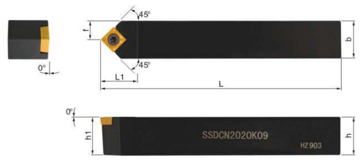 SSDCN-Klemmhalter-Abmessungen
