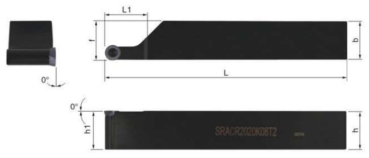 SRACR-Klemmhalter-Abmessungen
