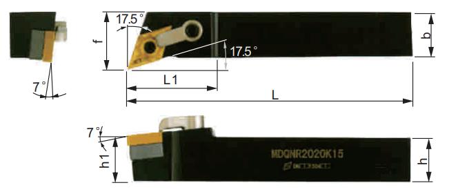 MDQNR-Klemmhalter-Abmessungen