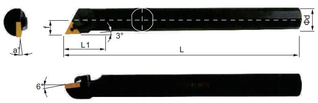 MTJNR-Bohrstange-Abmessungen