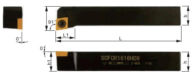 SCFCR-Klemmhalter-Abmessungen