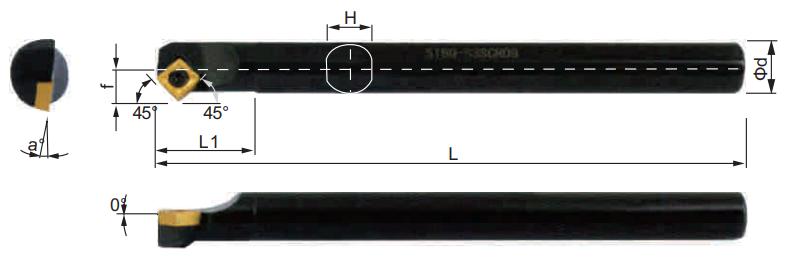SSSCR-Bohrstange-Abmessungen