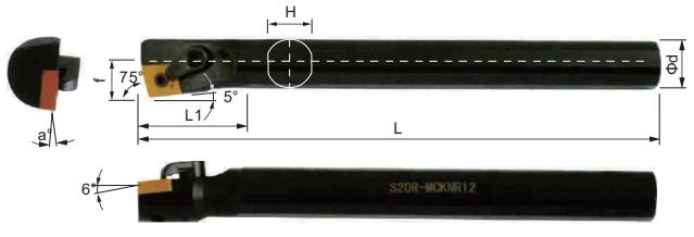 MCKNR-Bohrstange-Abmessungen