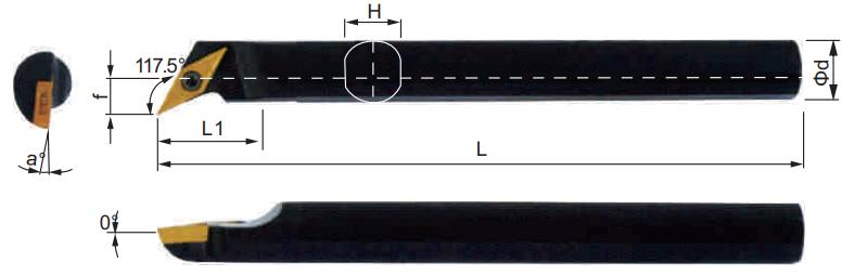 SVQCR-Bohrstange-Abmessungen