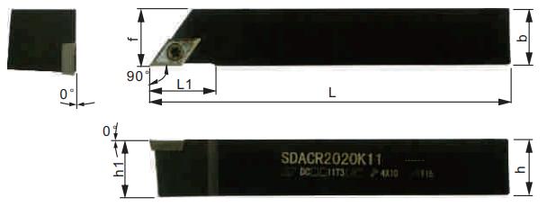 SDACR-Klemmhalter-Abmessungen