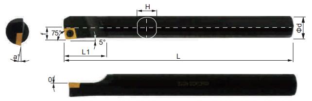 SCKCR-Bohrstange-Abmessungen