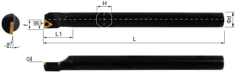 STUCR-Bohrstange-Abmessungen