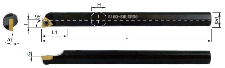 SWLCR-Bohrstange-Abmessungen