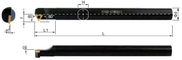 STWCR-Bohrstange-Abmessungen