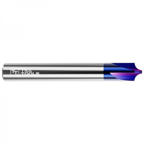 VHM-Viertelkreisfräser Nano-Blue-beschichtet, 4 Schneiden