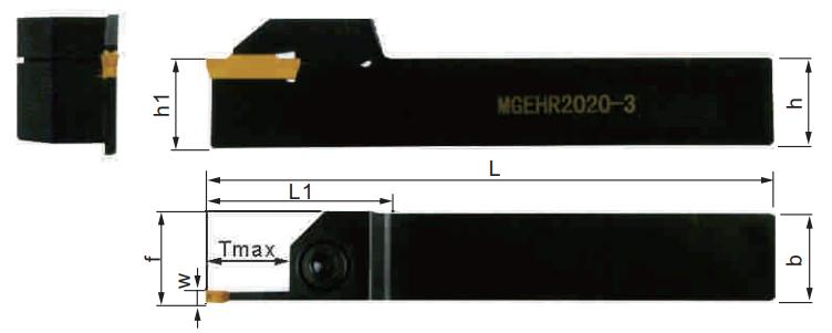 MGEHR-Abstechhalter-Abmessungen