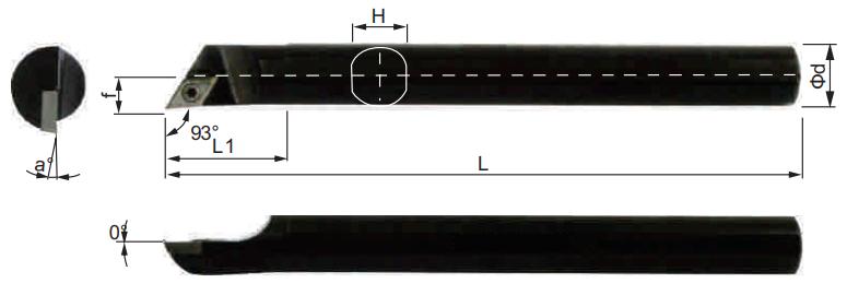 SDJCR-Bohrstange-Abmessungen