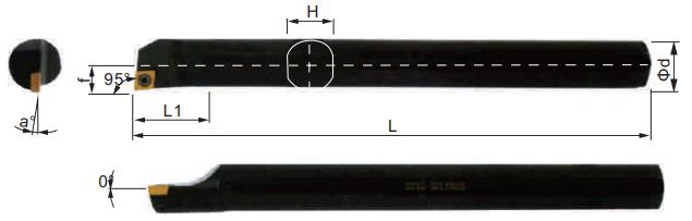 SCLCR-Bohrstange-Abmessungen