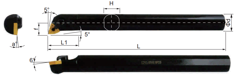MWLNR-Bohrstange-Abmessungen