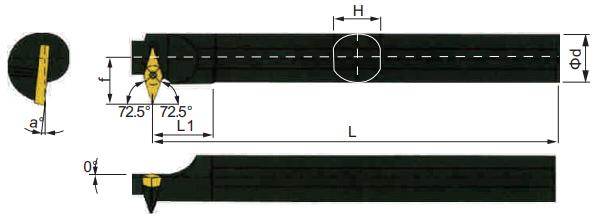 SVWCR-Bohrstange-Abmessungen
