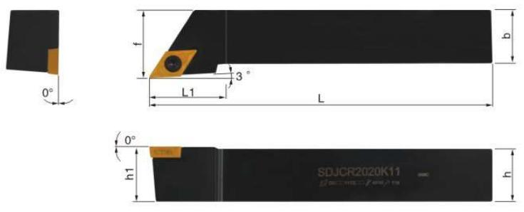 SDJCR-Klemmhalter-Abmessungen