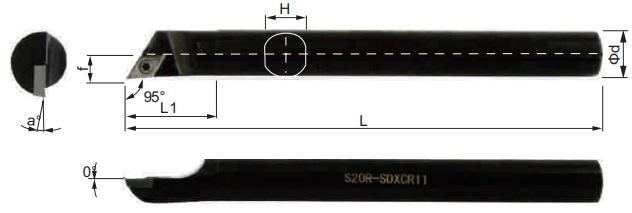 SDXCR-Bohrstange-Abmessungen